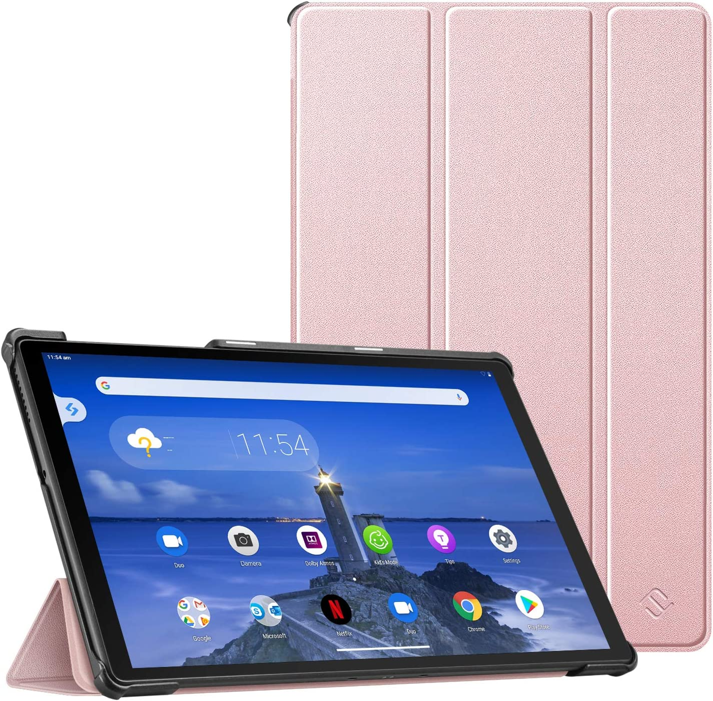 CaseBot Case for Lenovo Tab M10 Plus, Lightweight Slim Shell Stand Cover with Auto Sleep/Wake for Lenovo Tab M10 Plus TB-X606F / TB-X606X 10.3 Inch Tablet, Rose Gold