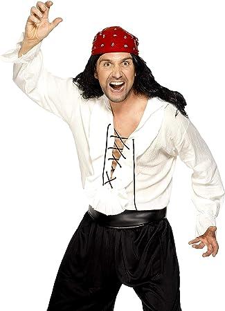 Smiffys - Disfraz de pirata para hombre, talla M (29537M): Amazon ...