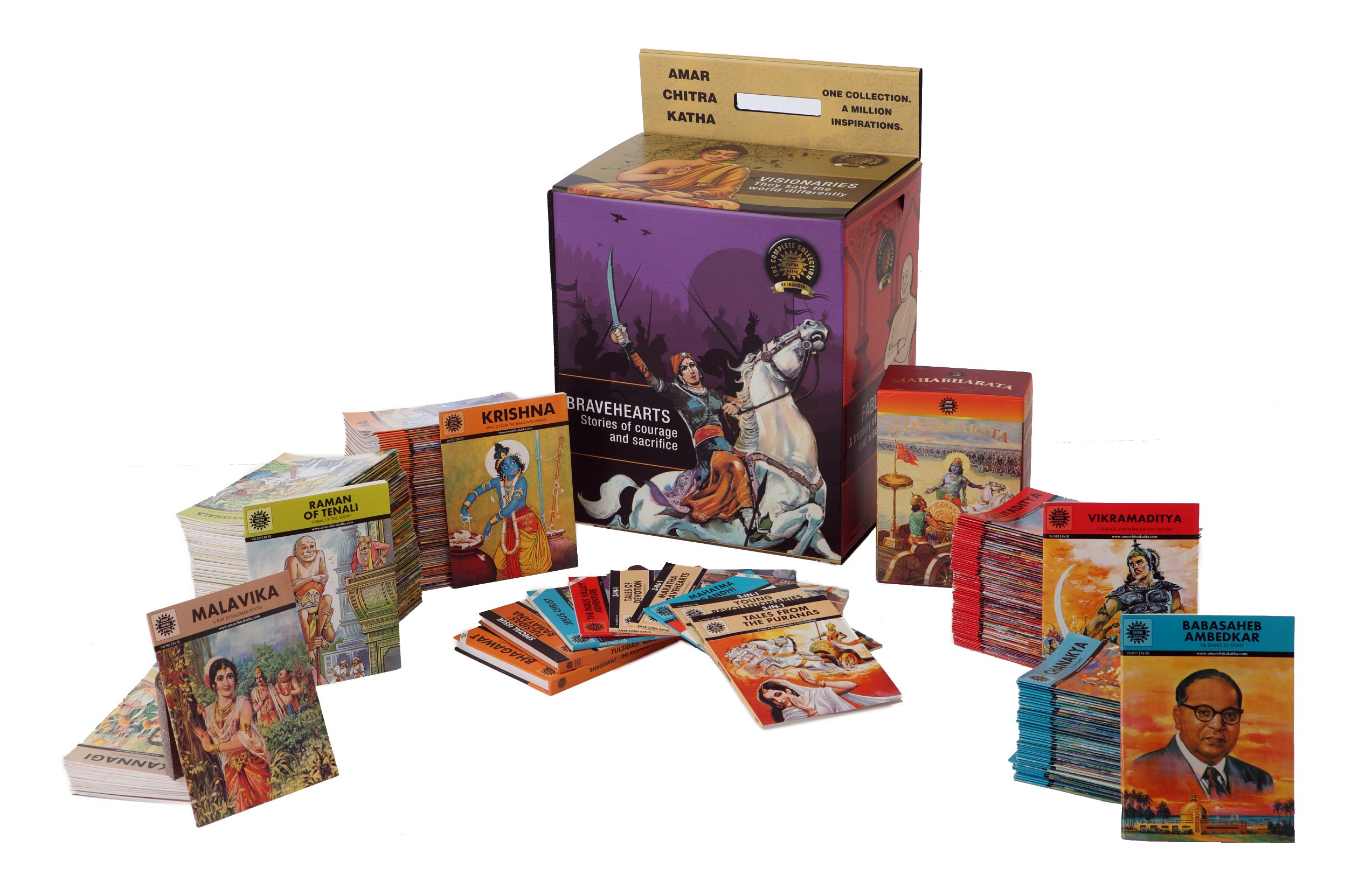 Amar Chitra Katha Complete Collection 300 Titles 10 Specials 9788184829396 Amazon Com Books