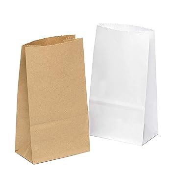 Bolsas de papel (100 unidades, 9 x 16 x 5 cm, tamaño pequeño ...