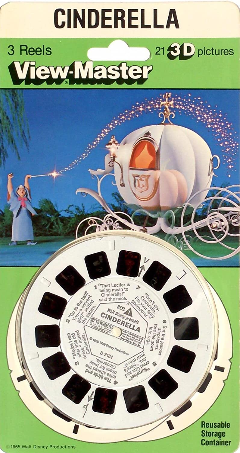ViewMaster Disney's Cinderella Classic Clay Figure Art - 3Reels, 21 3D images 3Dstereo ViewMaster