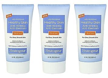 Neutrogena Healthy Skin Anti-Wrinkle Anti-Blemish Cleanser, 5 1 Ounce (Pack  of 3)