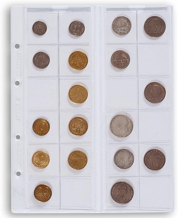Leuchtturm 319236 Hojas Optima, para 24 Monedas de hasta 34 mm Ø, Transparentes: Amazon.es: Juguetes y juegos