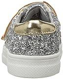NINA Girls' Ashly Sneaker, Silver, 6 M US Toddler