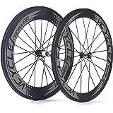 VCYCLE Nopea Strada 700c Bici Carbonio Ruote Copertoncino Anteriore 60mm Posteriore 88mm Shimano o Sram 8/9/10/11 Velocità
