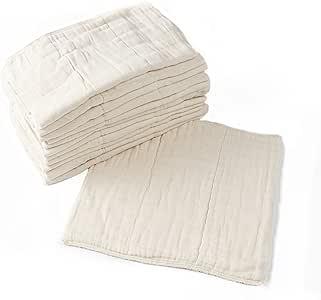 Pañales de tela predoblados, paquete de 12, algodón premium sin ...