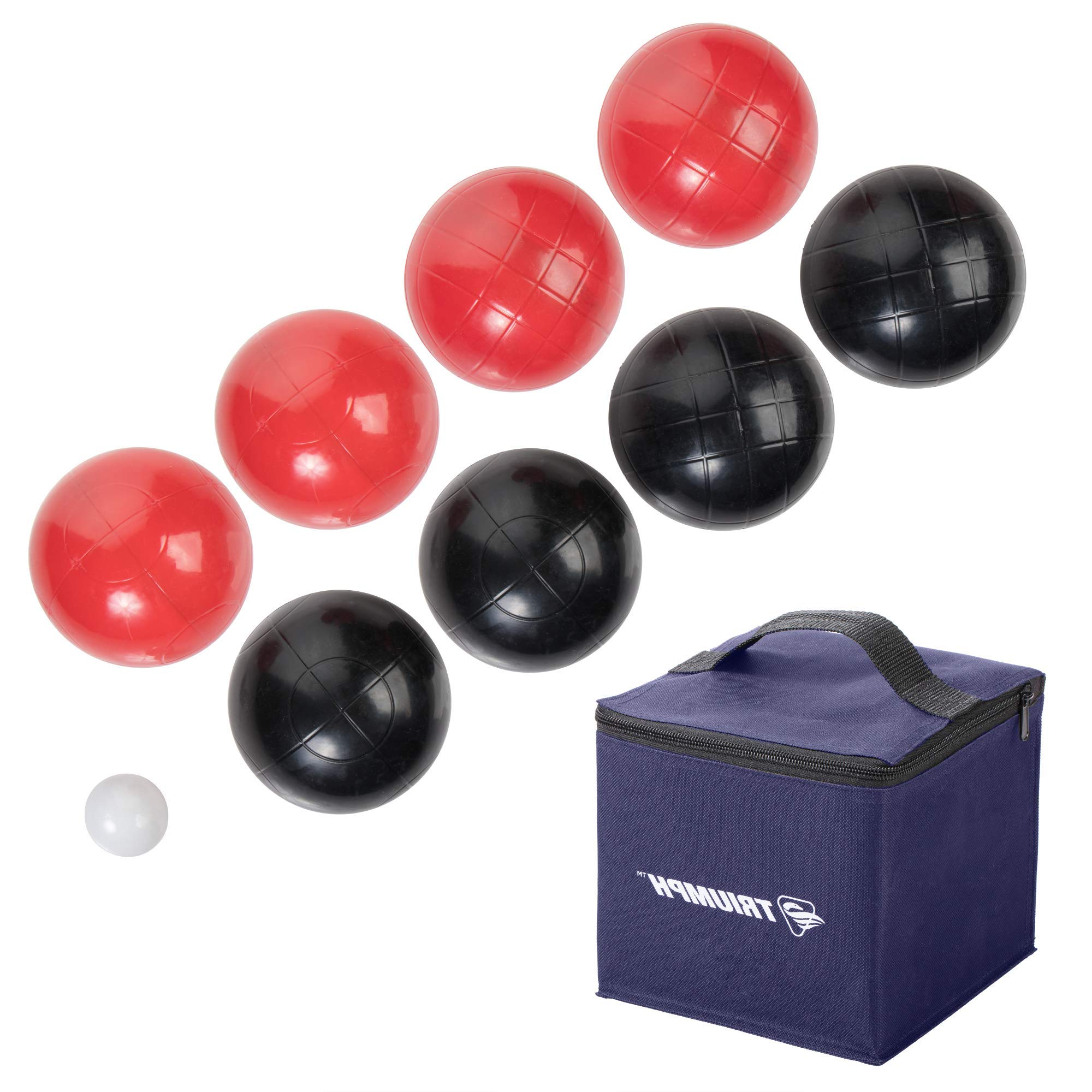 HealthyBells Recreational Outdoor Bocce Ball Set Includes 8 Bocce Balls, Jack, and Sports Carry Bag