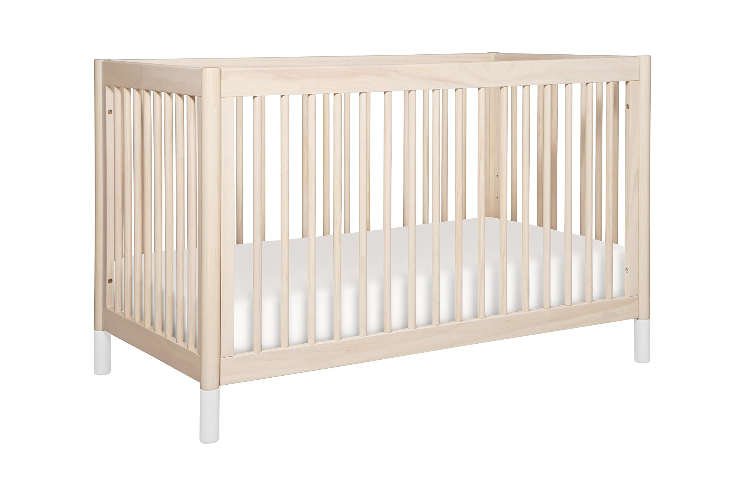 Amazon com babyletto gelato 4 in 1 convertible crib with toddler bed conversion kit washed natural baby