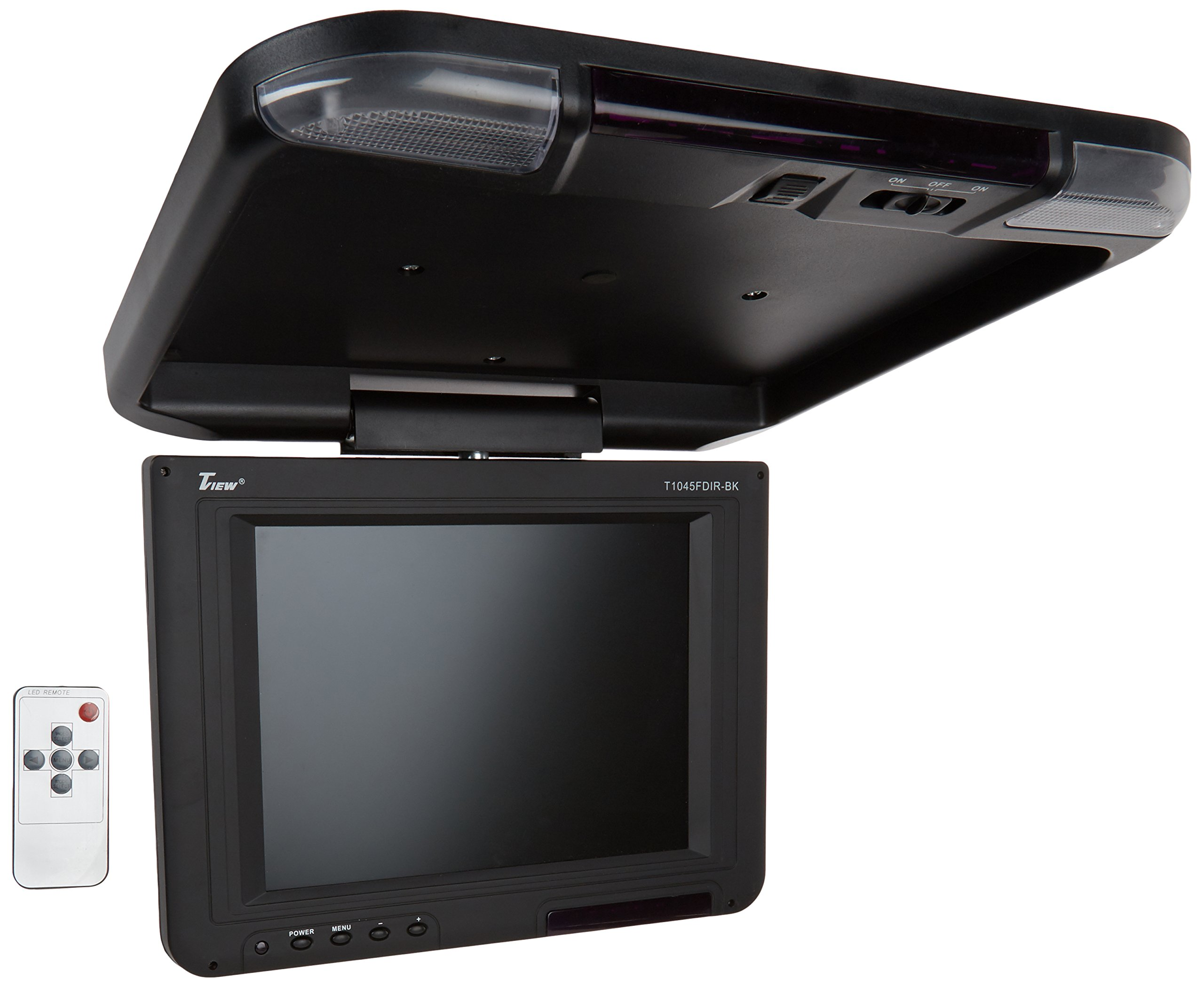 Tview T1045FDIR-BK 10.4-Inch Car Flip Down Monitor (Black)