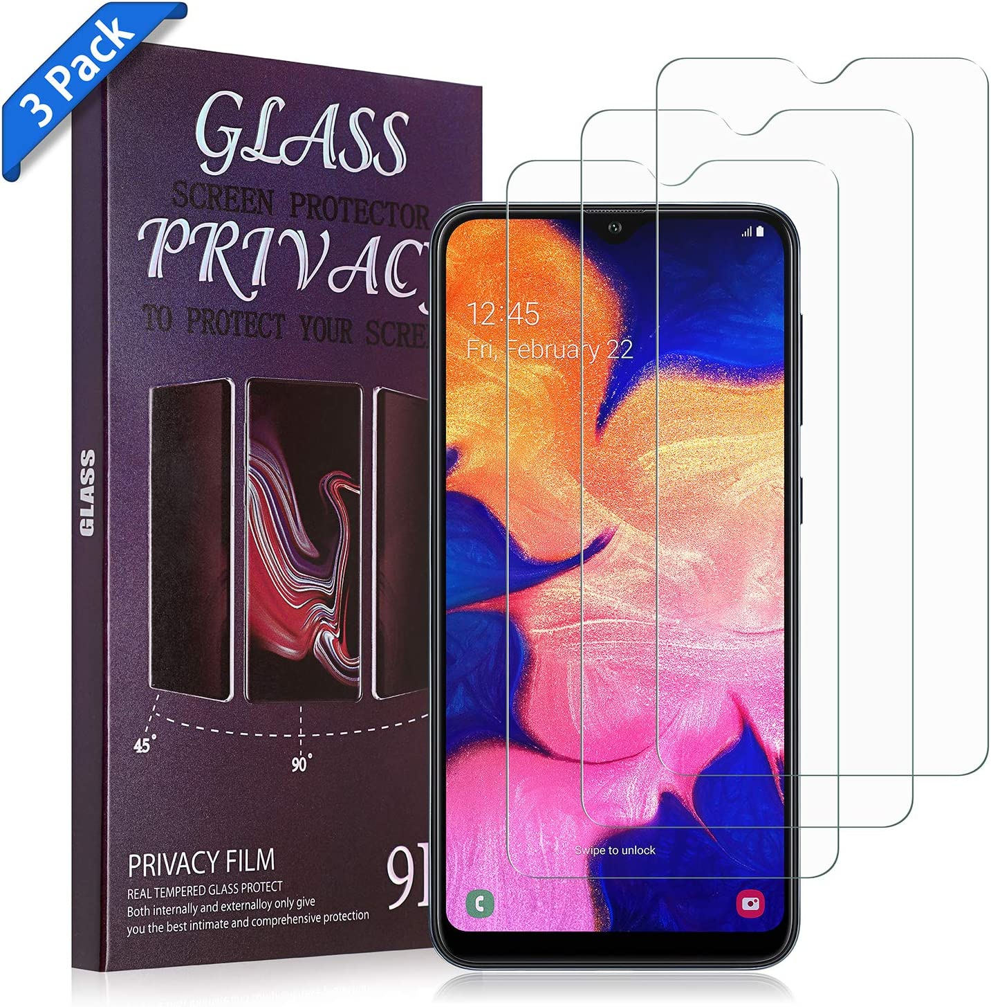 No-Bubble Scratch-Resistant Anti-Fingerprint Aclouddate Screen Protector Tempered Glass, Glass Screen Protector