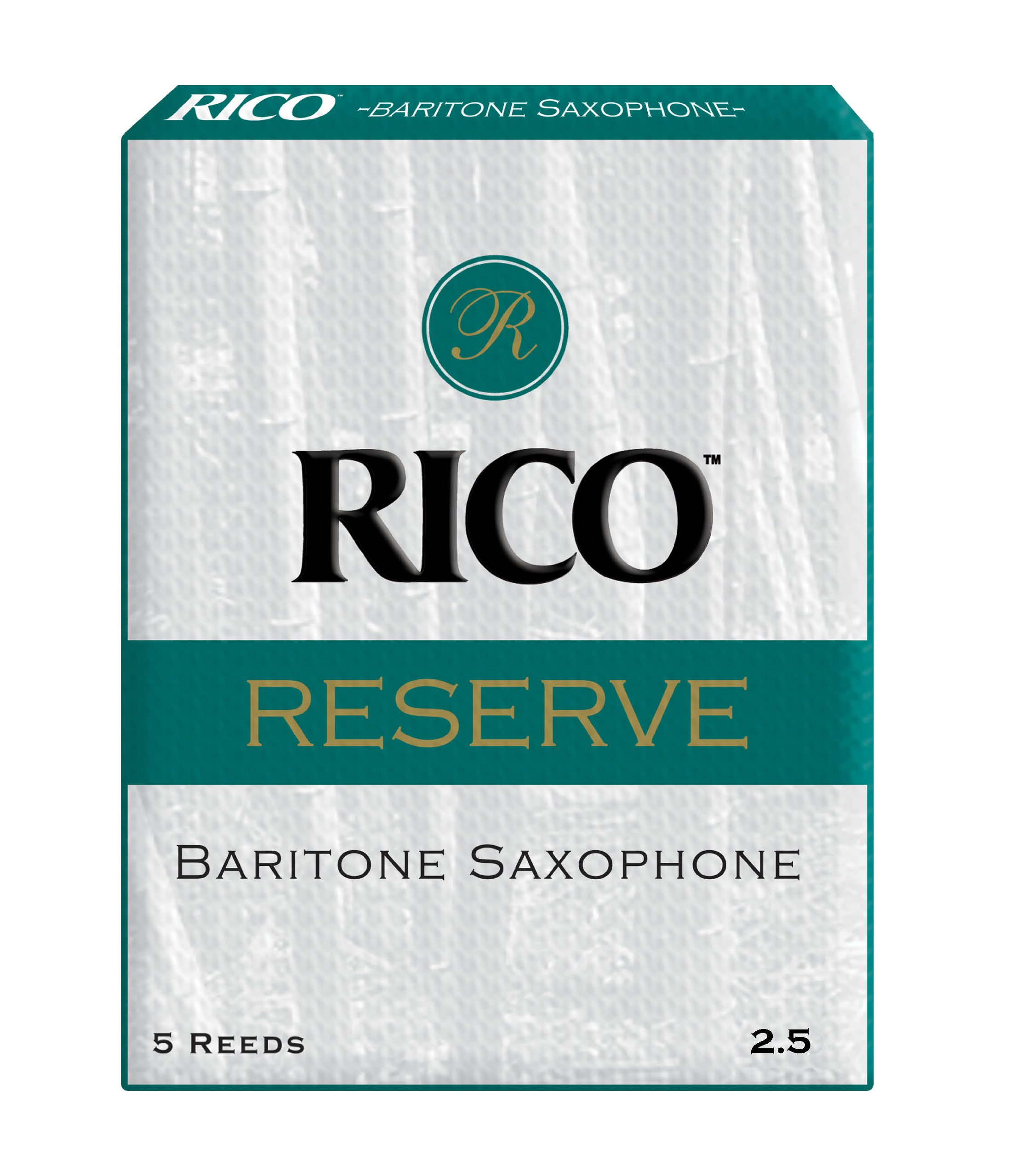 Rico Reserve Baritone Sax Reeds, Strength 2.5, 5-pack
