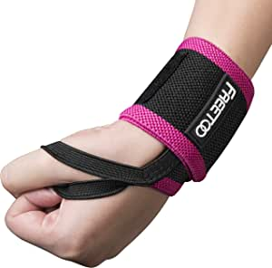 FREETOO Wrist Support Wrist Wraps,Bandage Breathable Bracers Wrist Support Straps for Weight Lifting,Fitness,Bench Press for Man&Woman(Single