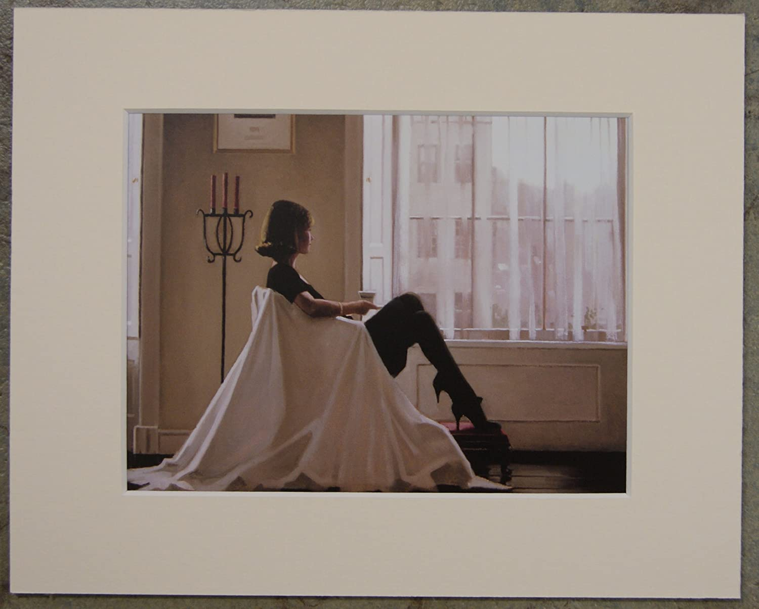 "Heatwave by Jack Vettriano Mounted Art Print 10/"" x 8/"""