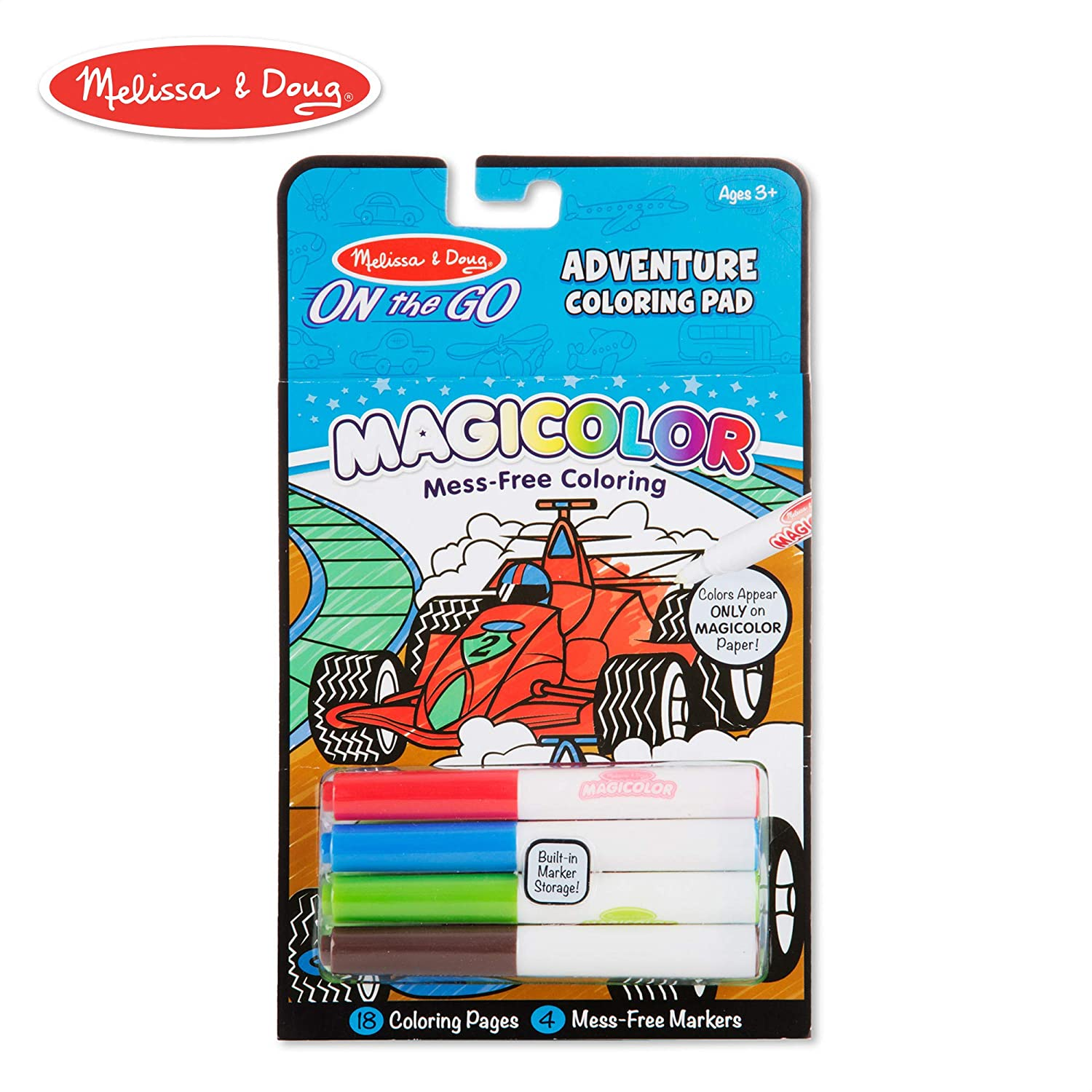 Melissa doug on the go magicolor coloring pad adventure 18 coloring pages and 4 markers