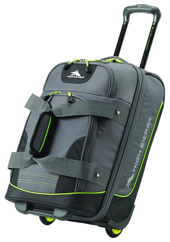 High Sierra Break Out Carry-On Wheeled Duffle Upright, Mercury/Black/Zest, International Carry-On (Model: 85234-5541)