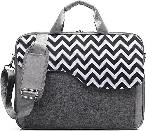 CoolBELL 17.3 Inch Nylon Laptop Bag Shoulder Bag with Strap Multicompartment Messenger Hand Bag Tablet Briefcase for iPad Pro Laptop MacBook Ultrabook Men Women College Grey Wave