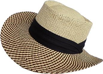 Straw Gambler Wide Brim 2 Tone Golf Hat Fishing Sun 30f051de8ddd