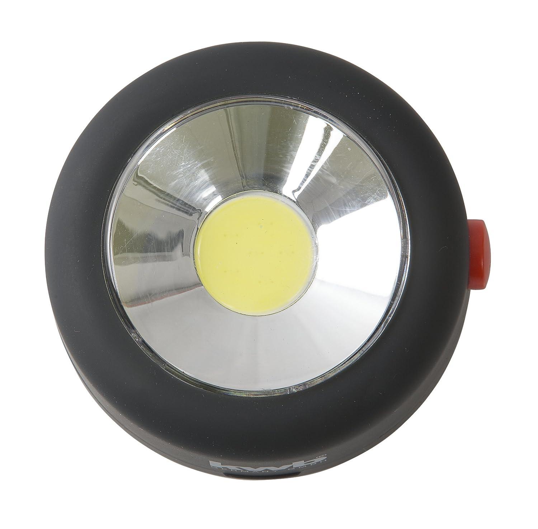 kwb COB-LED Arbeitsleuchte rund 948412 superhell mit Magnet auf der R/ückseite und No-Scratch Schutzfolie mit Haken