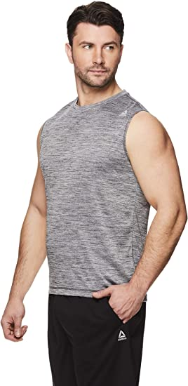 Reebok Herren Muscle Tank Top /Ärmelloses Workout /& Training Activewear Gym Shirt