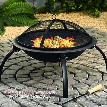 Negro barbacoa Fire Pit plegable estufa Brazier Estufa ...