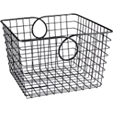 Spectrum Diversified Teardrop Storage Basket, Large, Industrial Gray