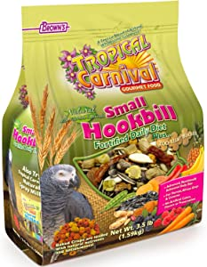 F.M. Brown'S Tropical Carnival Natural Small Hookbill Food, 3.5-Lb Bag - Vitamin-Nutrient Fortified Daily Diet For Parrots, African Greys And Conures Under 13