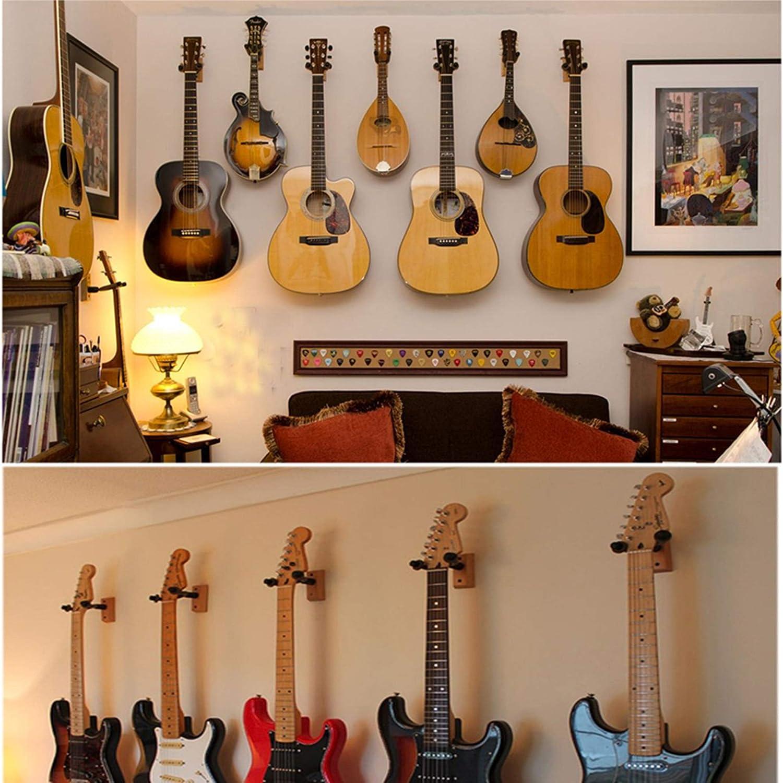 Soporte Pared Guitarra Bajo Ukulele Colgador de Para Colgar Guitarra en Pared Tambi/én Para Banjo Mandolina amarillo