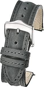 Alpine Genuine Suede Leather Sporty Watch Band - Black, Bown, Beige - 18mm, 20mm
