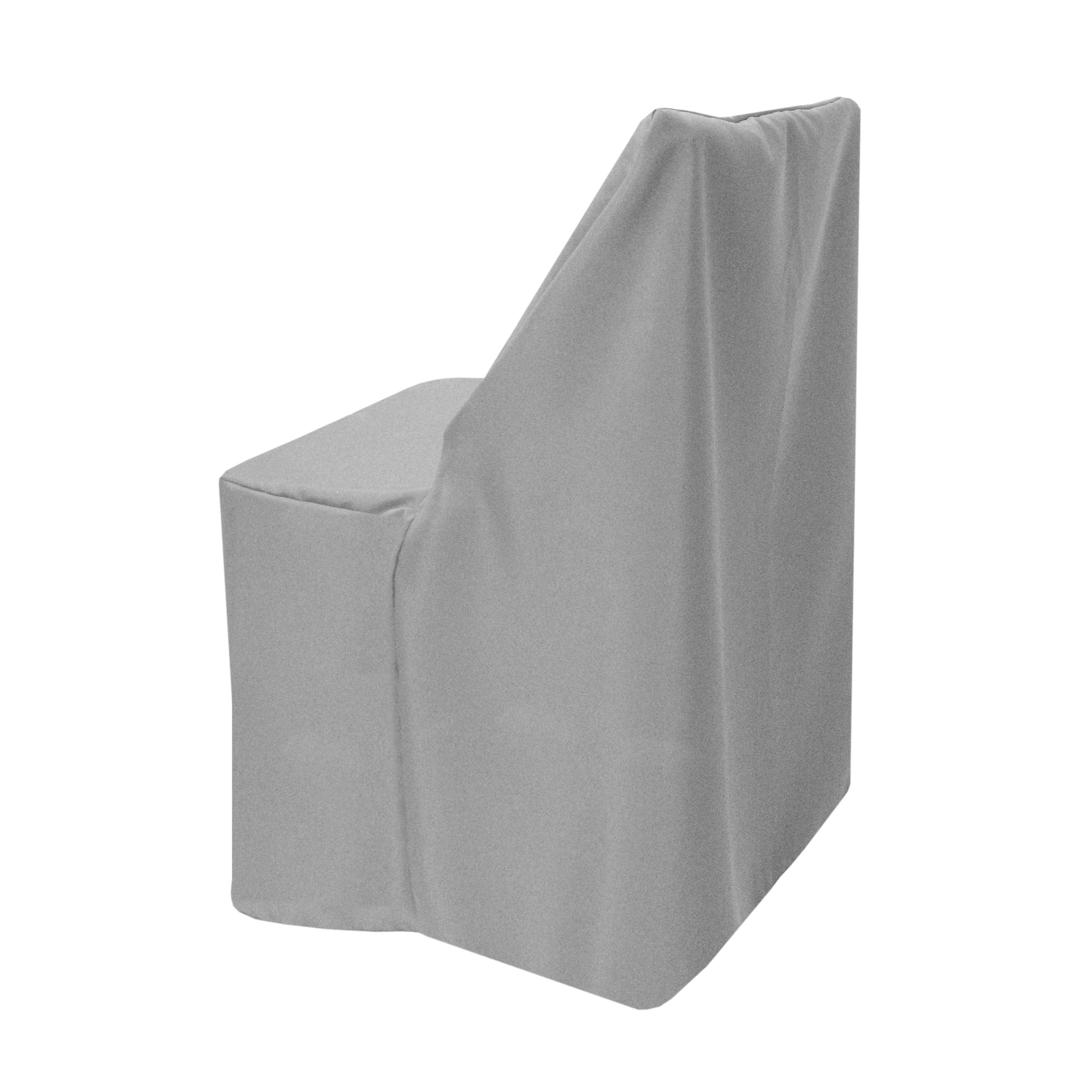 Ultimate Textile (25 Pack) Polyester Folding Chair Cover - for Wood Folding Chairs, Silver by Ultimate Textile