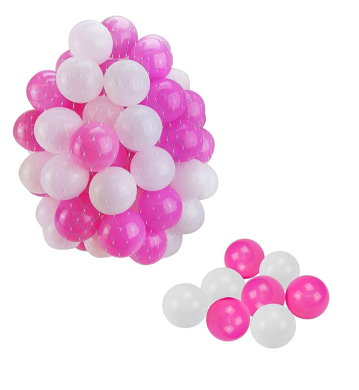2000 Bälle für Bällebad   Ball Ø 5,5cm   Bunte Plastikbälle in Farbmix für Ballpool   Kinder Spielbälle   Bällebäder   Spielzelt   Popup Zelt   Farbmix Rosa Weißszlig;