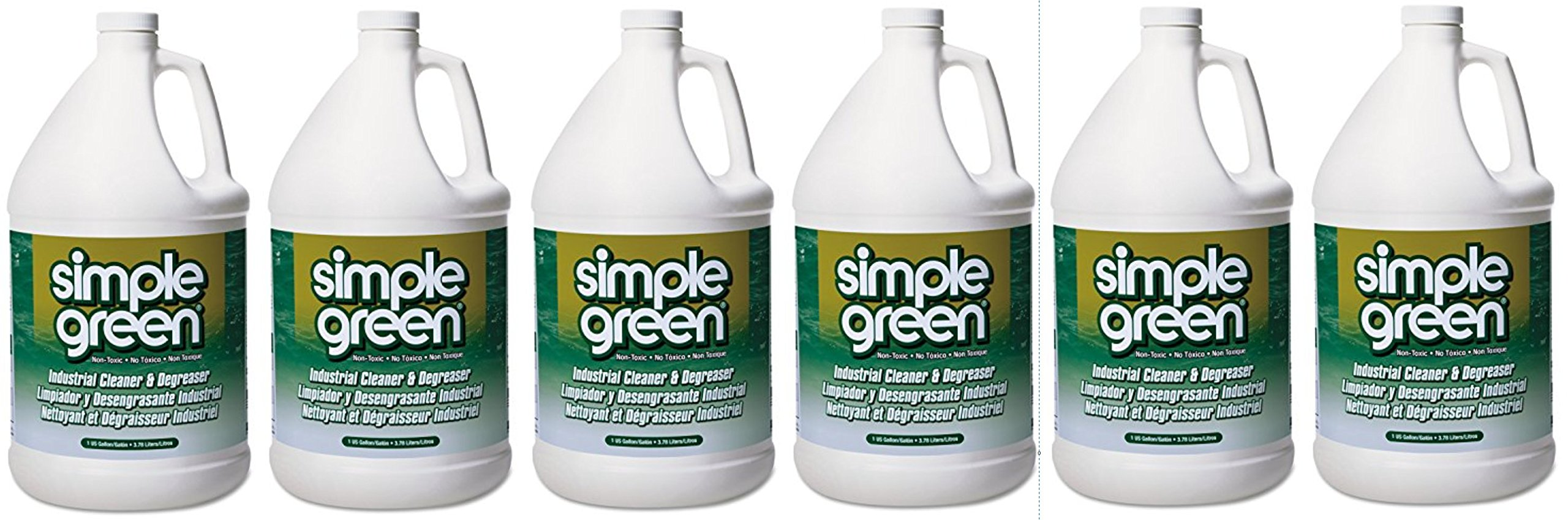 Simple Green 13005CT Industrial Cleaner and Degreaser, Concentrated, 1 Gal Bottle (6)