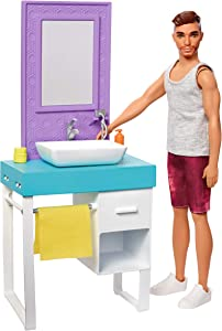 Barbie Ken Shaving & Bathroom Playset