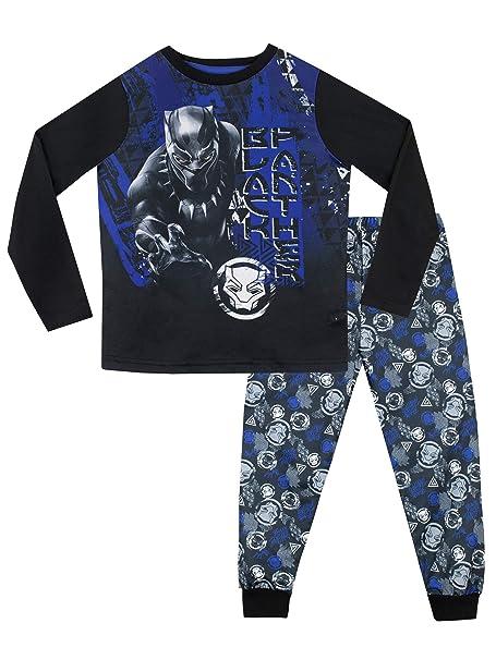 Marvel Pijamas de Manga Corta para niños Black Panther 18-24 Meses
