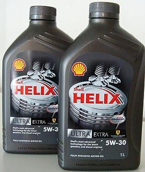 Shell Helix - Aceite para motor, 100% sintético, normas ACEA A3/B4 ...
