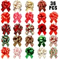 36 Pieces Wide Present Pull Bows Wrap Pull Bows Assorted Pull Bows for Christmas Wedding Valentine's Day Present Wrapping Dec