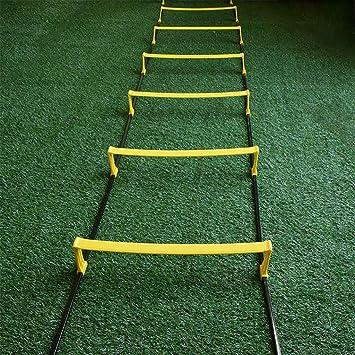 Xin Agilidad Escalera -10 peldaños de la Escalera de Velocidad, fútbol, Deportes, Deportes, Ejercicio, Entrenamiento de la Marcha: Amazon.es: Deportes y aire libre