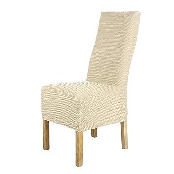 SCHEFFLER-Home Luna-Long 2 Fundas de sillas, Estirable Cubiertas de la sillas, extraíble elástica Funda, con Banda elástica, Ajuste Universal, Altura ...