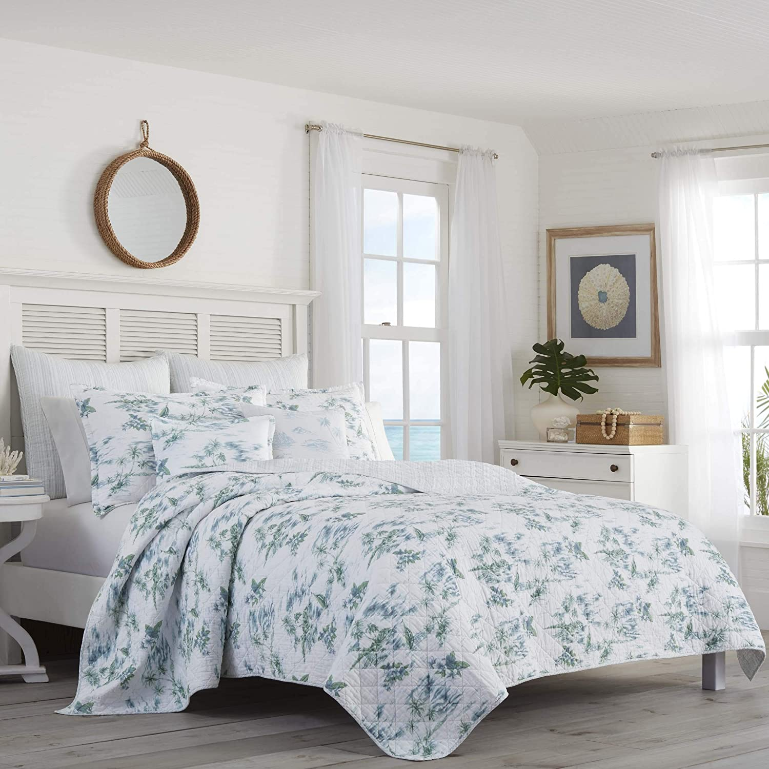 Tommy Bahama Sailaway Quilt Full//Queen Blue