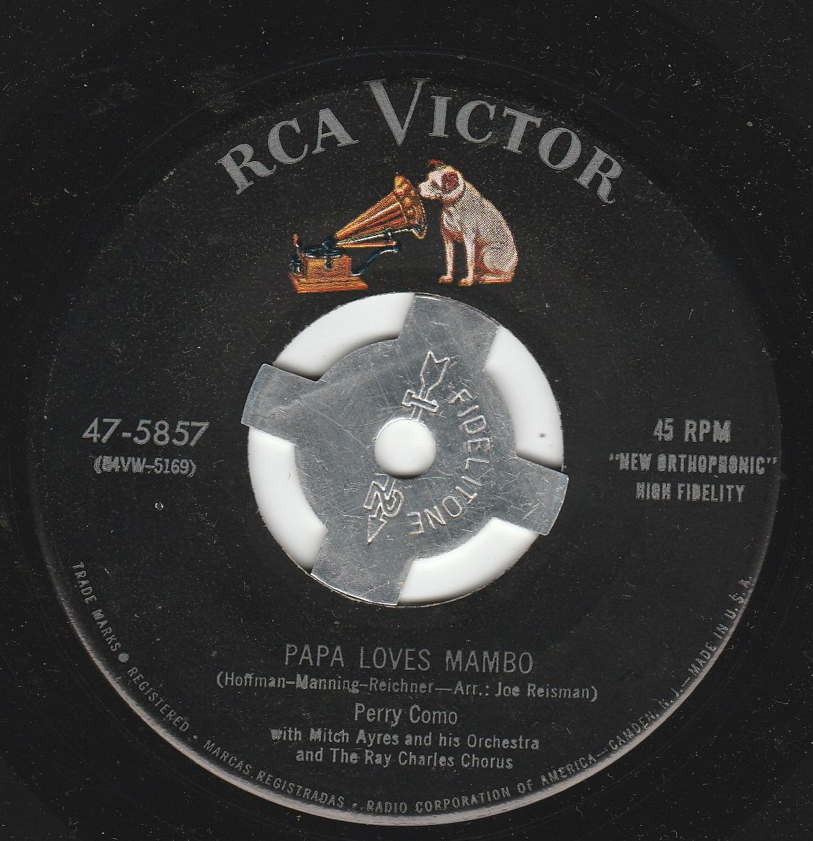 45vinylrecord Papa Loves Mambo/The Things I Didn't Do (7''/45 rpm)