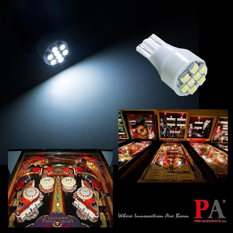 10X Number 906 Pinball Machine Blue LED Flasher Lamps Free Ship USA