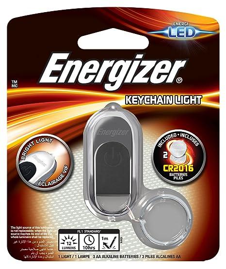 Energizer 625704 Hi-Tech - Llavero linterna LED con 1 pila CR203, color plateado