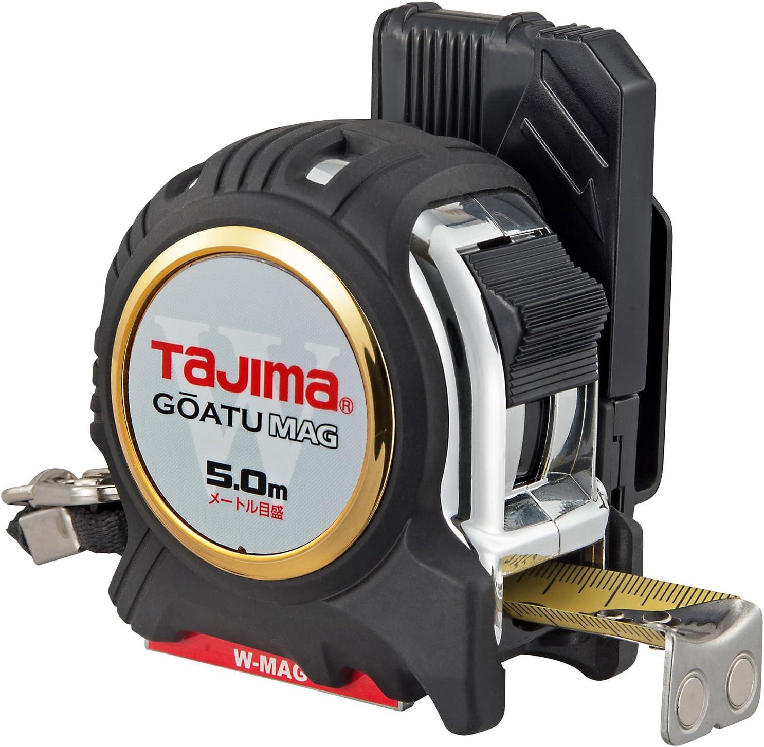 タジマ(Tajima) コンベックス 剛厚セフGロックダブルマグ25 5.0m 25mm幅 メートル目盛 GASFGLWM2550