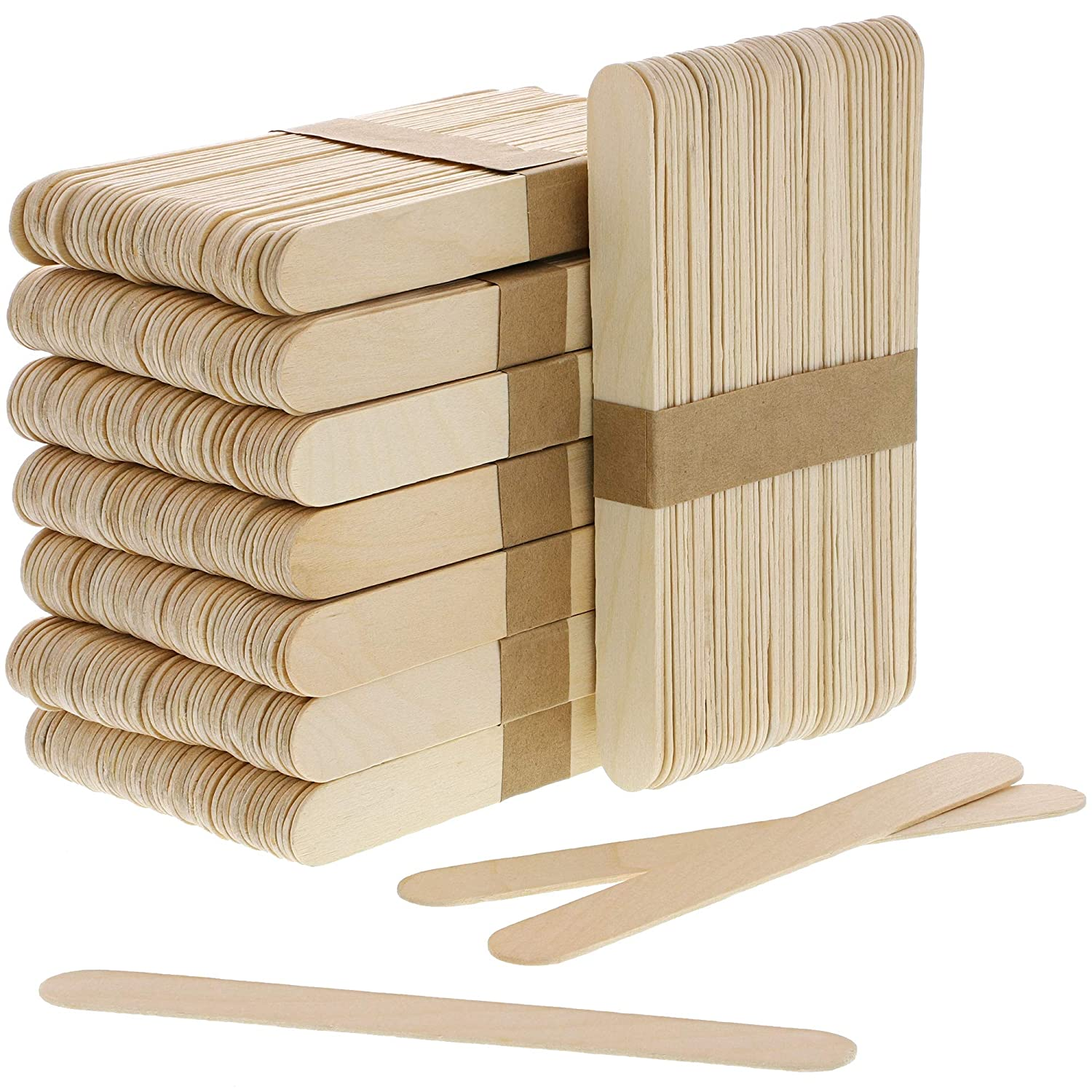 400 Count Juvale Large Wood Sticks for Wax Application or Crafts