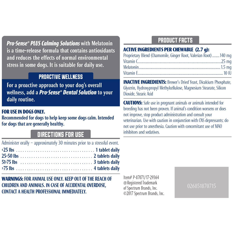 Amazon.com : ProSense P-87071 60 Count PS Plus Calming Solutions Tablets : Pet Supplies