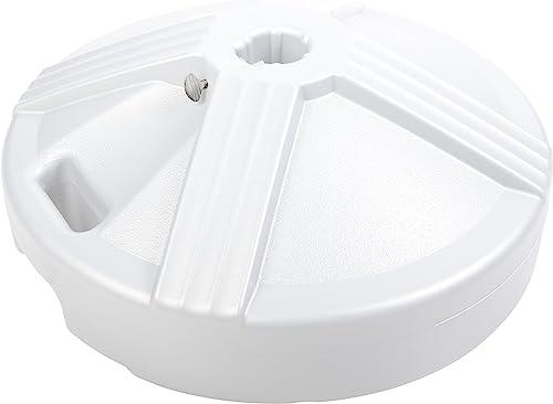 US Weight 50 Pound Umbrella Base, White