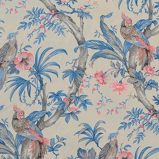 Textiles français Tela de algodón Estampada - Las Aves Rapaces ...