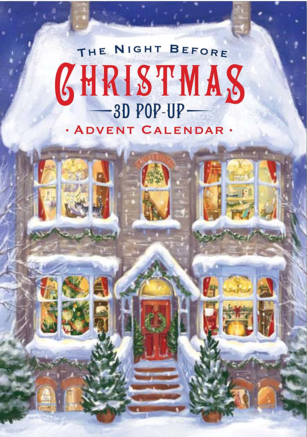 Christmas 3-D Advent Calendar - The Night Before Xmas - 24 Hidden Doors and Surprises for The Countdown to Christmas