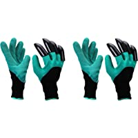 SAFEYURA Garden Gloves with Claws for Gardening, Pruning, Digging & Planting (2 Pairs)