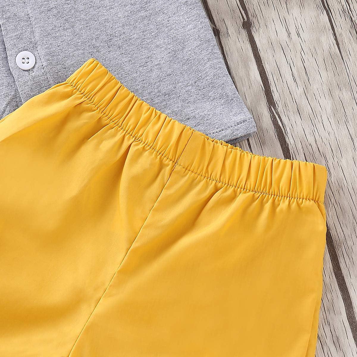puseky T-Shirt a Maniche Corte per Neonato da Bambina Top Pantaloni Corti Set di Abiti Coordinati per Fratello e Sorella