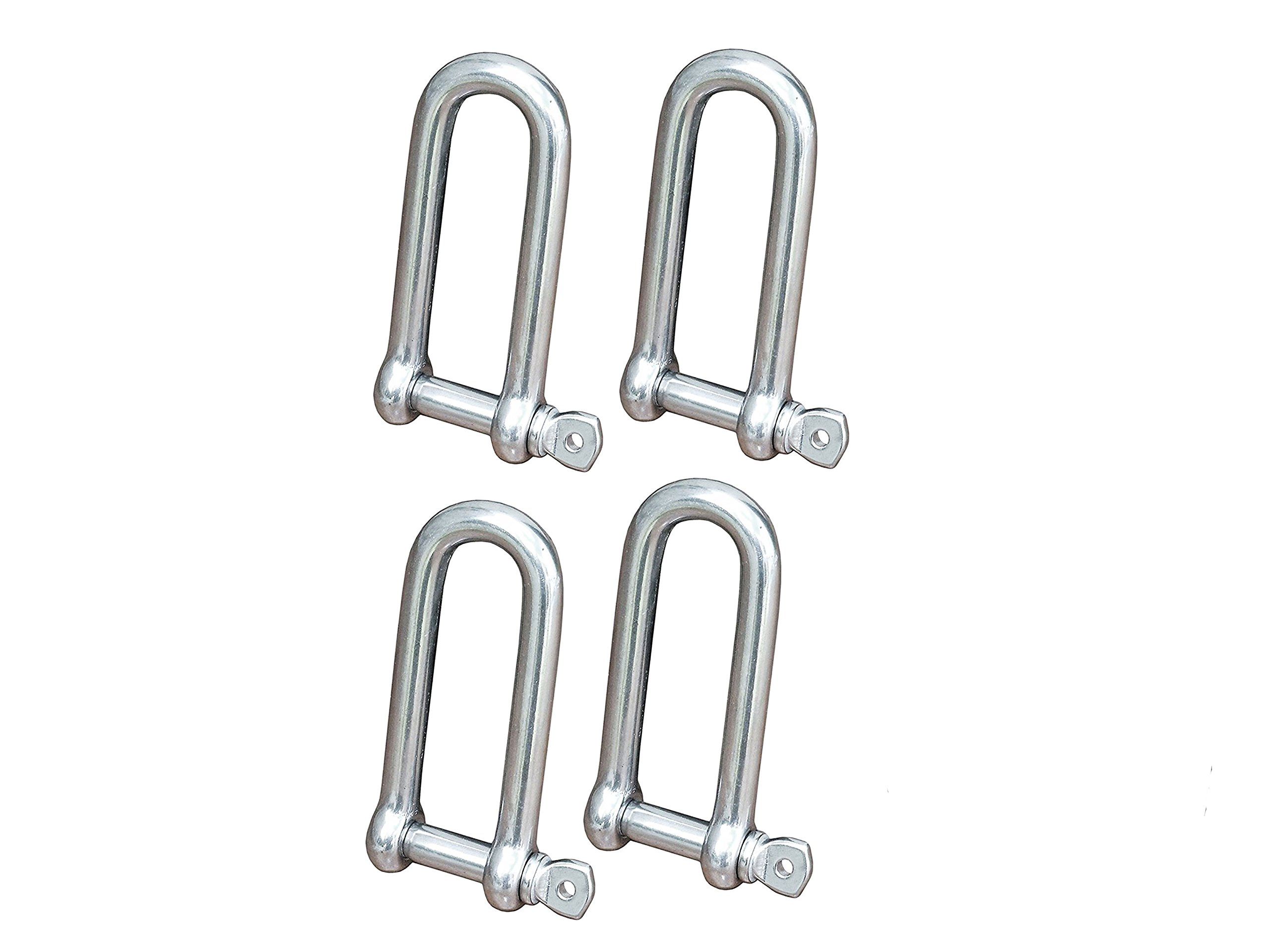 Five Oceans Stainless Long D Shackle w/Captive Pin 5/32'' (Set of 4) FO-419-M4